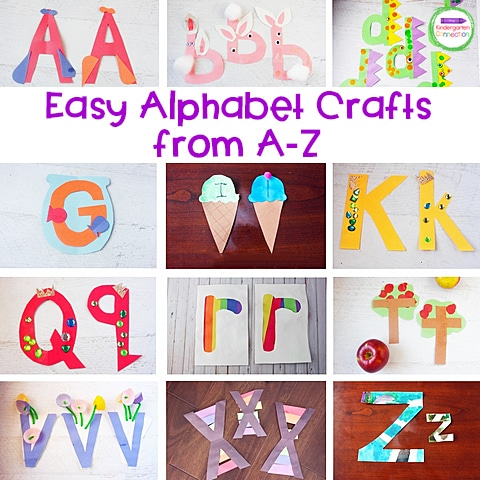 This is a great list of alphabet crafts covering all letters from A-Z.