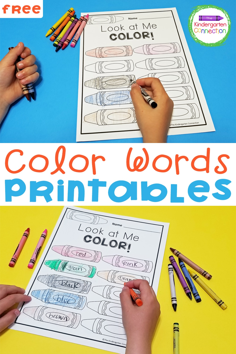 Practicing color recognition and color words just got more fun with these free Color Words Printables for Pre-K & Kindergarten!
