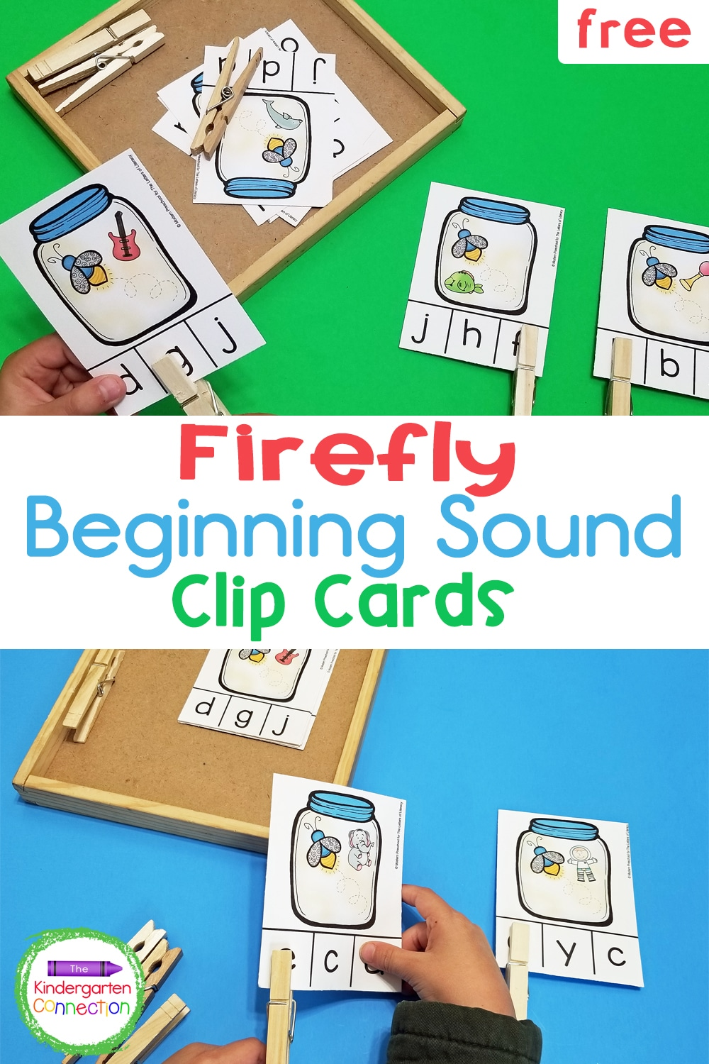 Practice initial sounds and letters with these free Firefly Initial Sound Clip Cards! The firefly theme is perfect for the warm summer months.