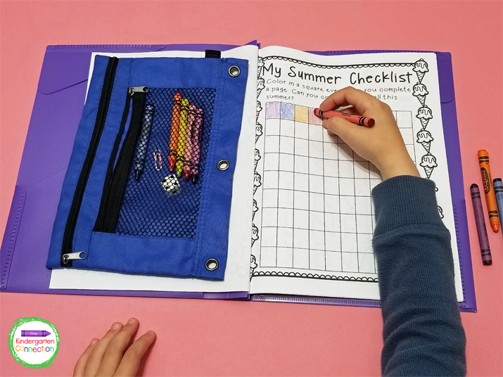 This pack also includes a reading log and a tracking sheet for students to color in each time they complete a page!