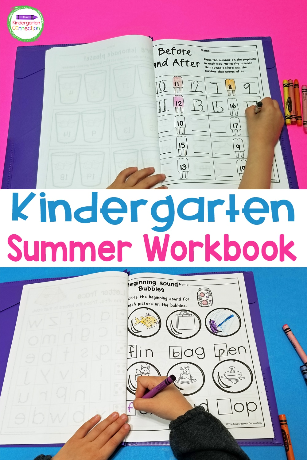 This Kindergarten Summer Homework pack of low-prep, math and literacy printables will keep your students learning while still having fun over break!