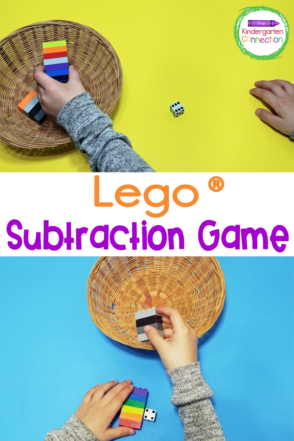 Turn LEGOs into fun learning manipulatives while working on subtraction with this creative, hands-on LEGO Subtraction Game for Kindergarten!