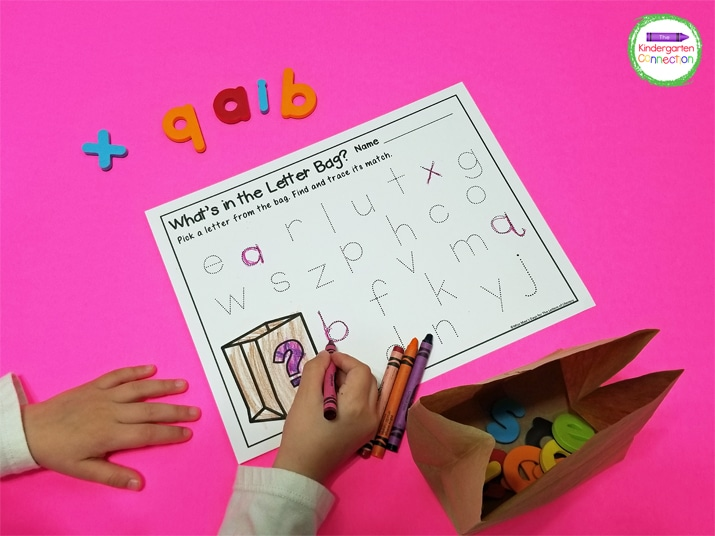 The letter tracing printable gives children the chance to practice both letter recognition and writing skills.