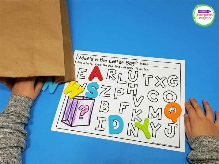 This activity includes printables to practice both uppercase and lowercase letters.