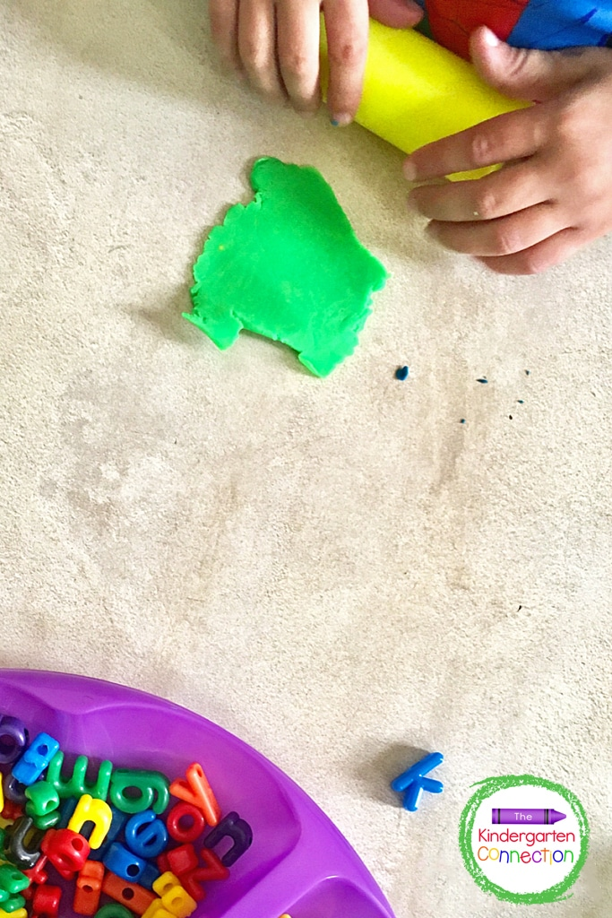 Strengthen fine motor muscles and encourage longer independent play time by also including rollers and other play dough tools.