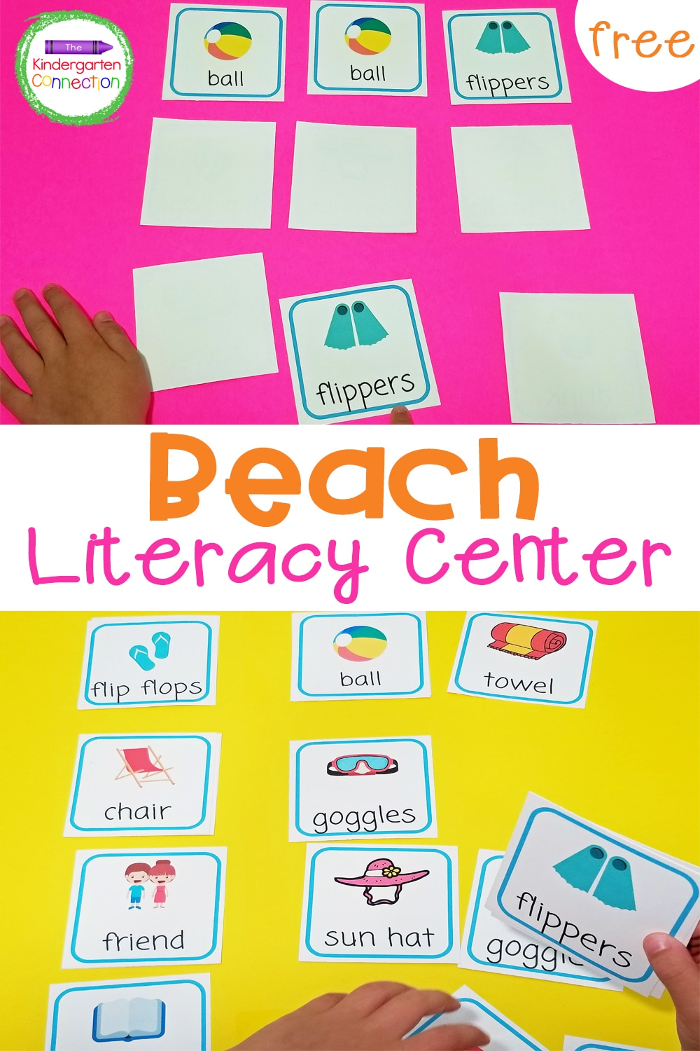 Grab these FREE Beach Vocabulary Memory Game Cards and strengthen vocabulary and memory skills with your kids all summer long!
