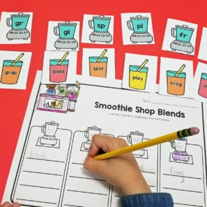 Beginning Blends Smoothie Sorting Activity