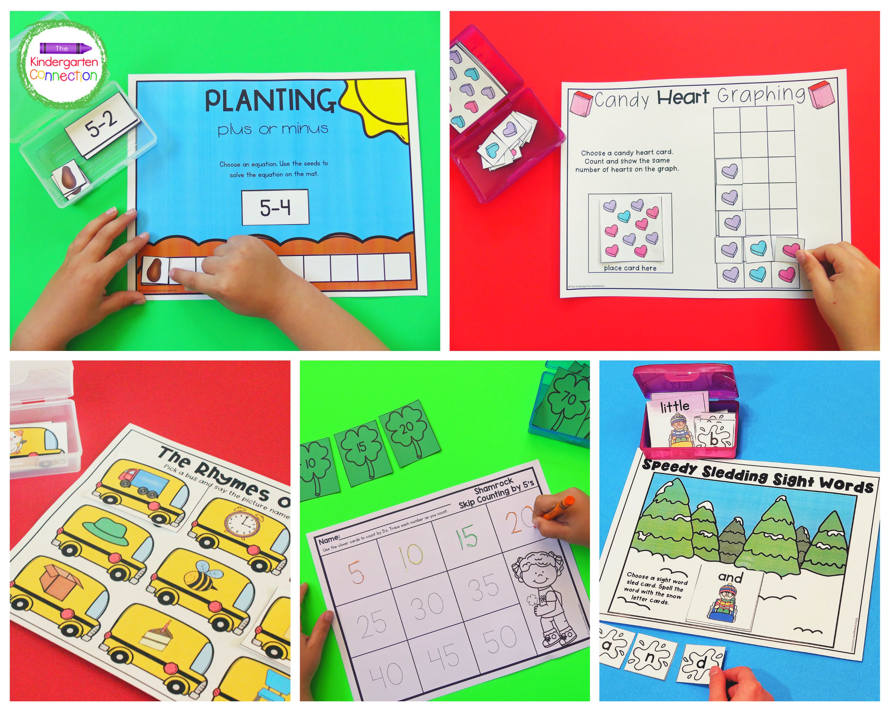 Easily send Box Centers home for extended practice of important math and literacy skills.