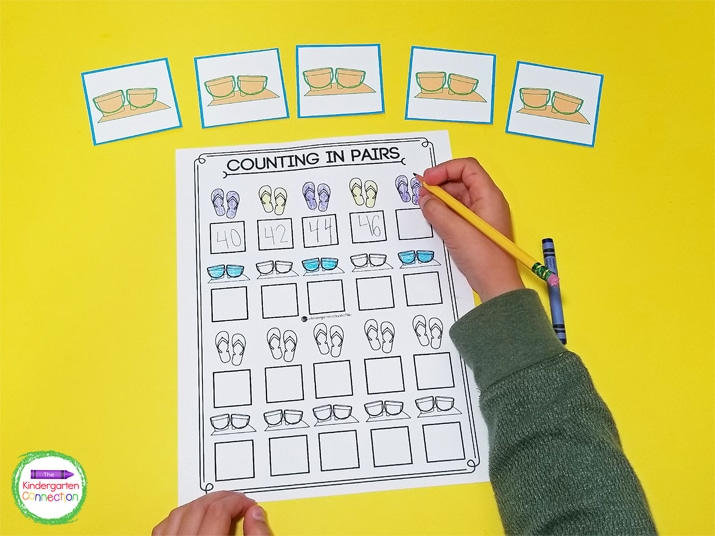 The blank Counting in Pairs printable is great for confident learners that already understand the concept of counting in pairs.