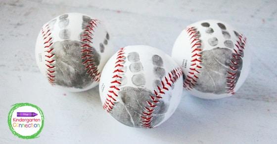 I hope you have fun creating this sweet Father's Day Baseball Handprint Craft keepsake!
