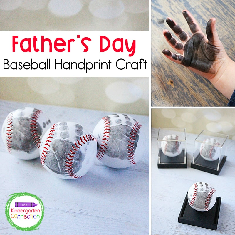 This Father's Day handprint craft is simple to make with just a baseball and an ink pad!