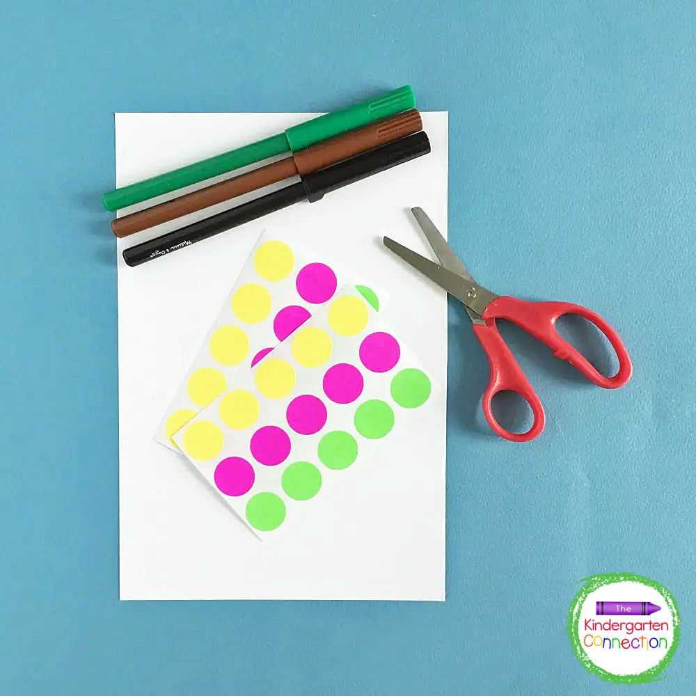 This summer craft for kids uses just a few simple supplies - cardstock, markers, scissors, and stickers.
