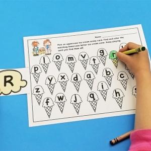 Ice Cream Alphabet Matching Game