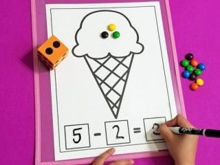 Ice Cream Math Mats