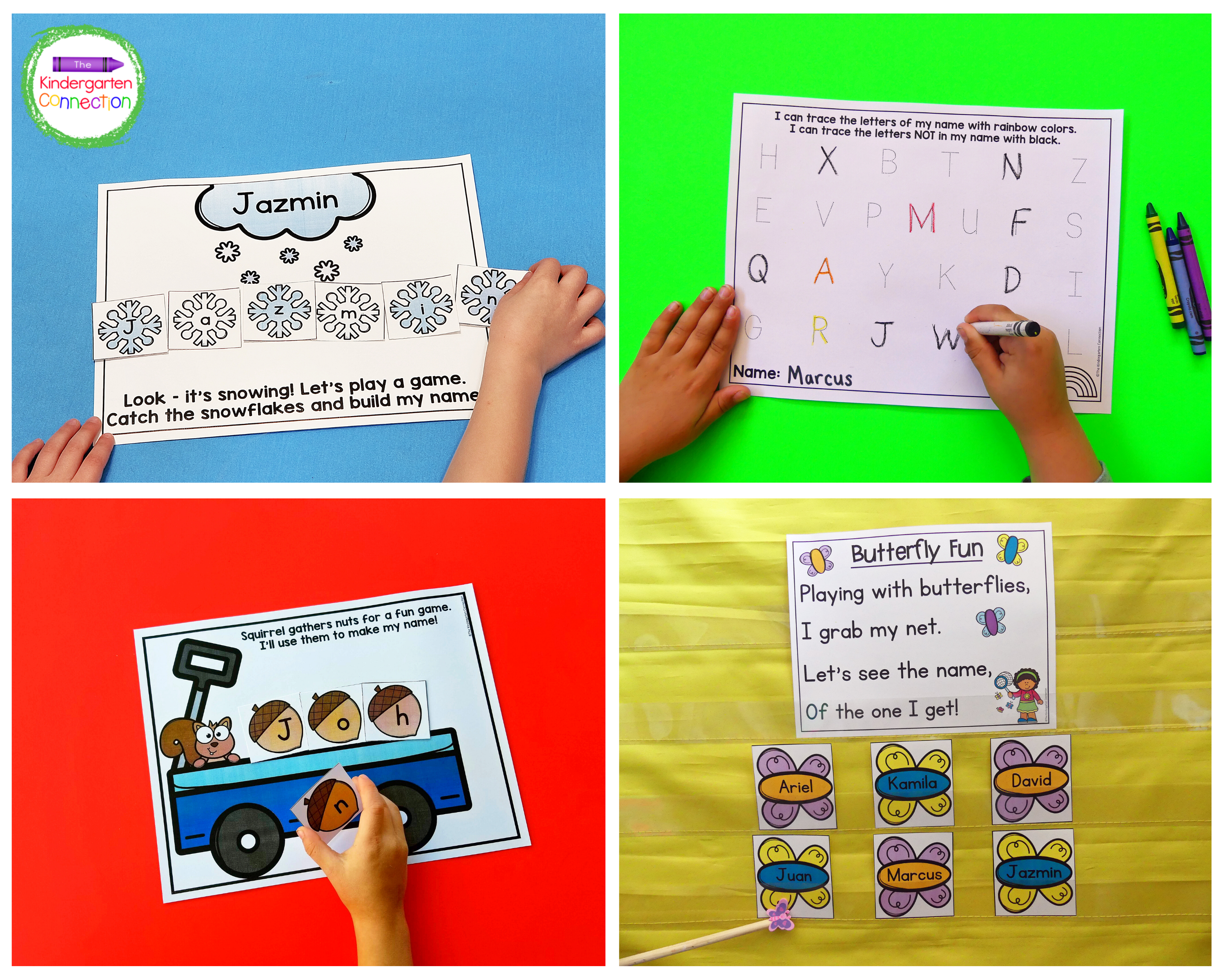 This bundle includes name games and activities for each month of the school year.