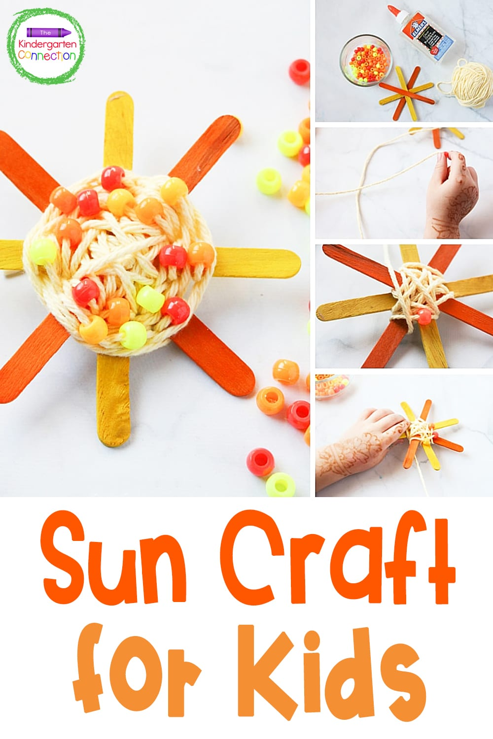 This easy Sun Craft is the perfect summer craft for kids! The suns are bright and colorful, and the weaving builds up fine motor skills, too!