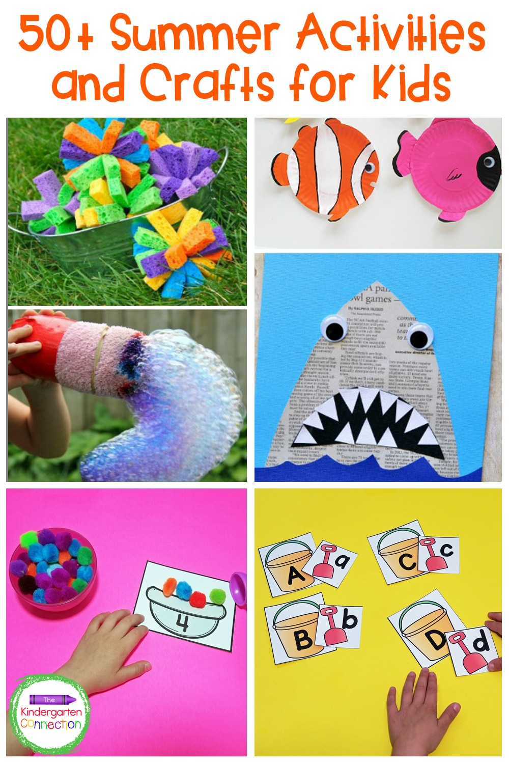 Ready for summertime? We've got 50+ awesome summer activities and crafts for kids to bring the summer fun into the classroom or your home!