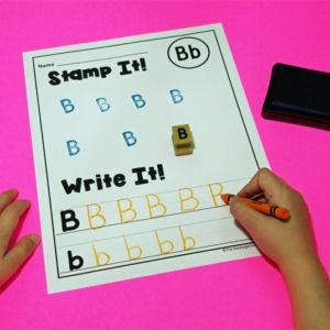Alphabet Stamp Handwriting Printables