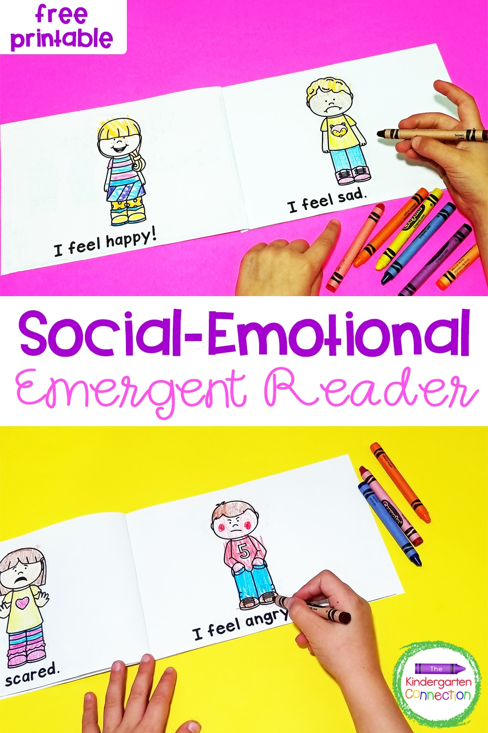 Grab this free Social-Emotional Emergent Reader to help your Pre-K and Kindergarten students learn to communicate their feelings and emotions!