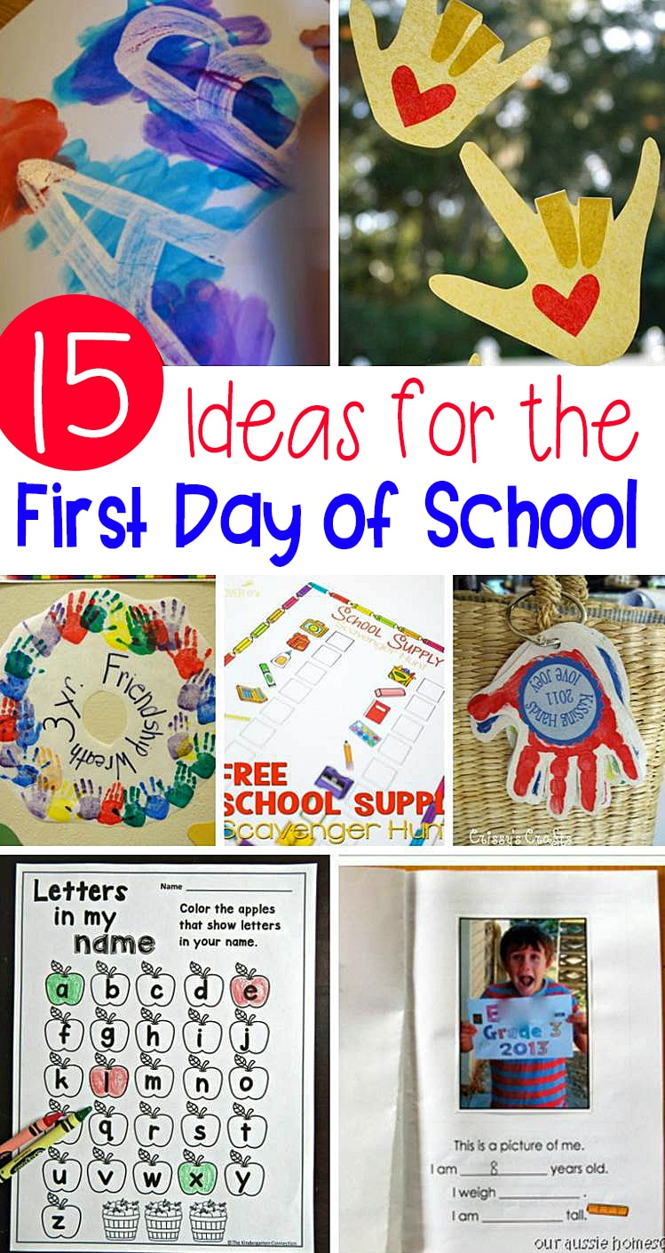 Make the transition to school less overwhelming and more fun with these awesome First Day of School Activities for Kindergarten!