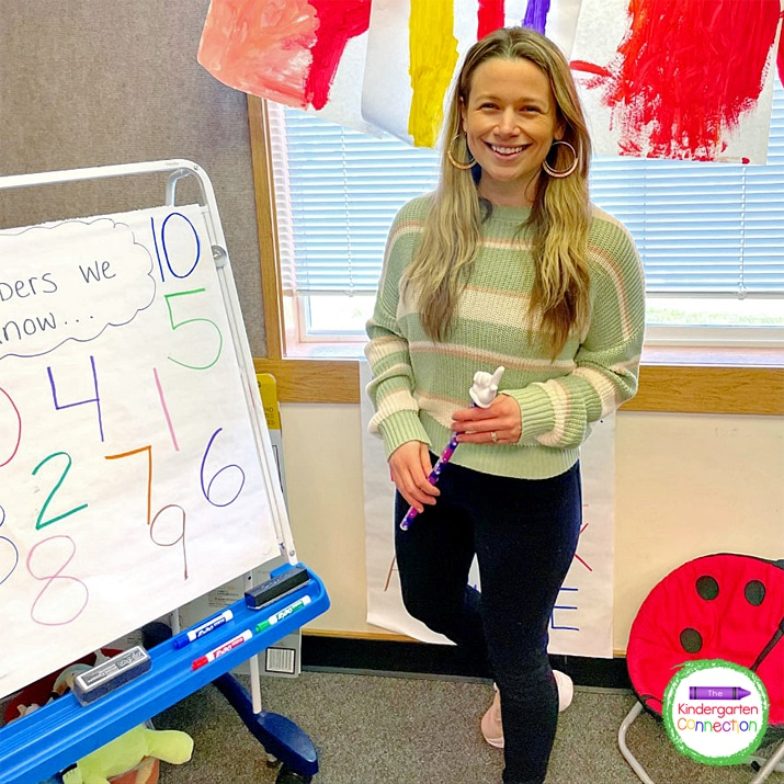 When teaching a number lesson, ask the students specific questions related to numbers.