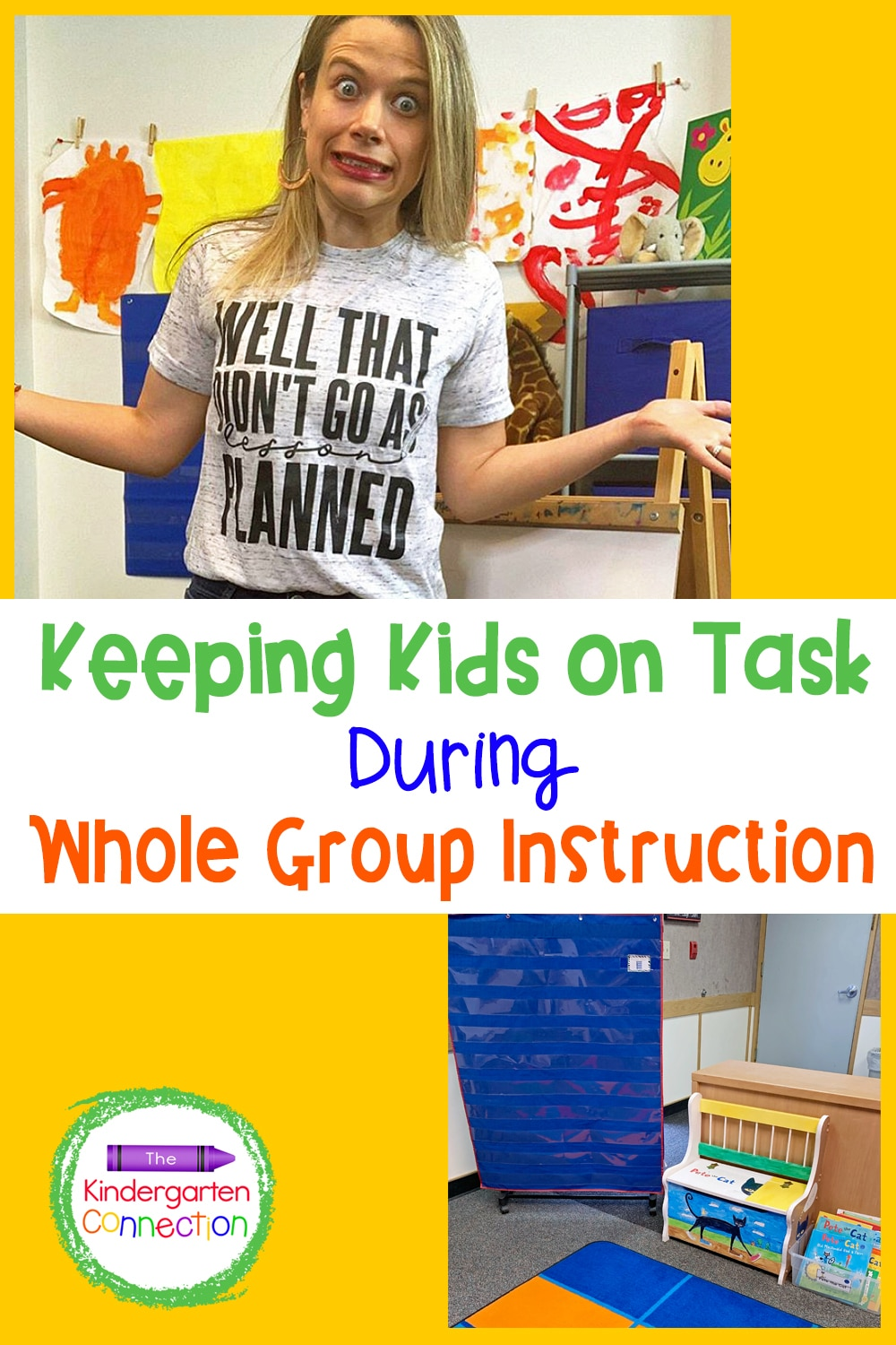 Check out these tips for how to keep kids on task during whole group instruction while still allowing them to feel acknowledged and heard!
