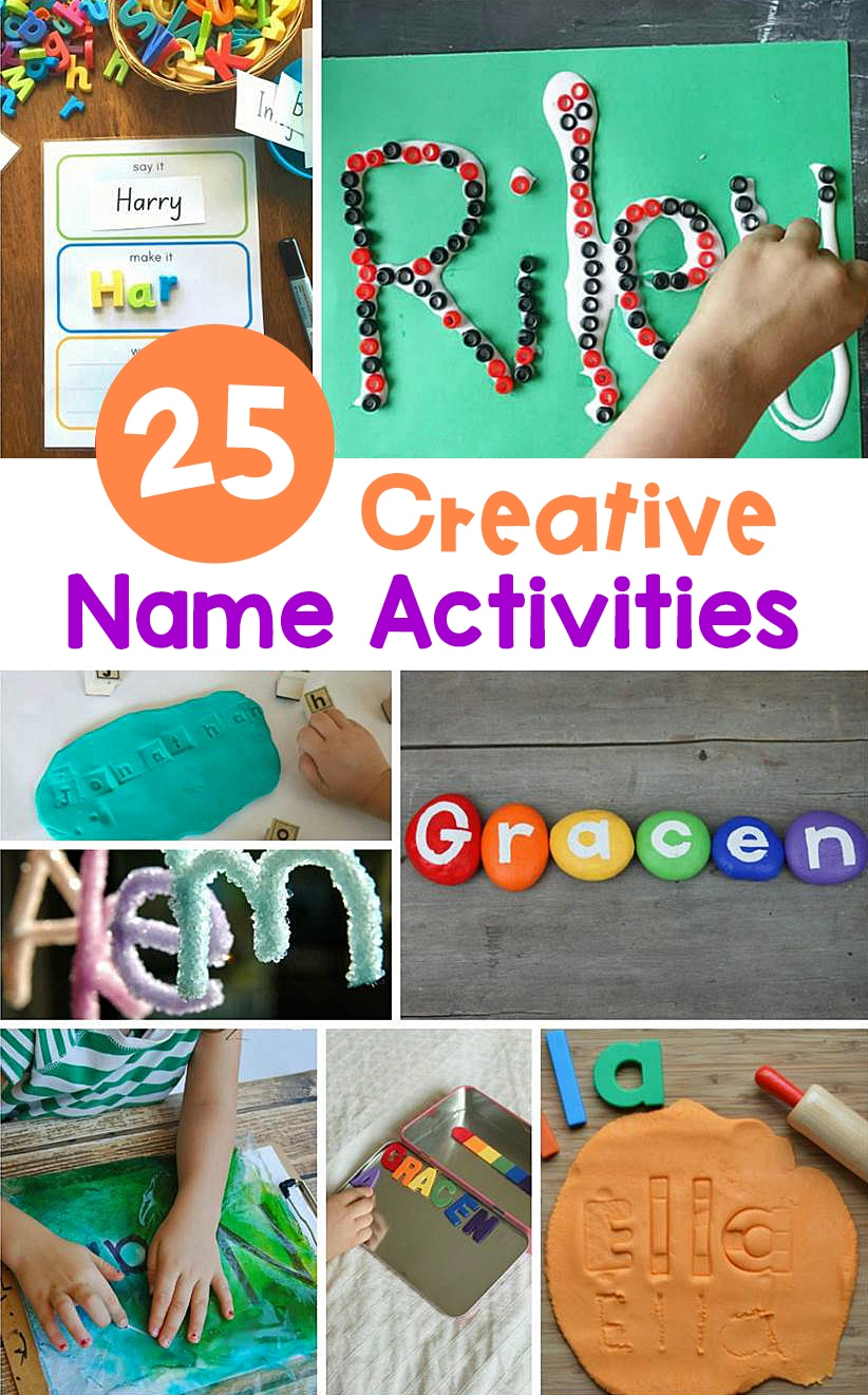 Learning to recognize, spell, and write our names takes lots of practice. Make it fun with these creative name activities for early learners!