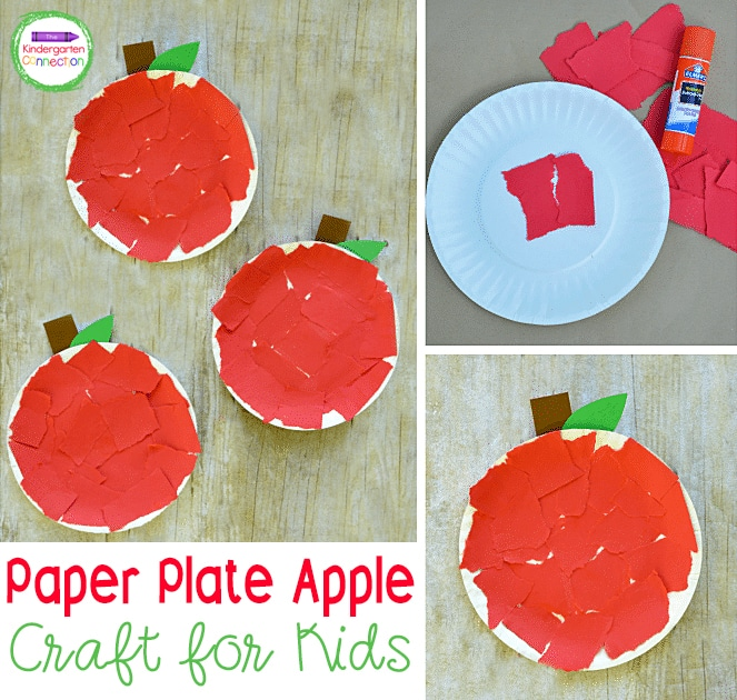The directions for this apple craft are very easy to follow, making it an ideal craft for young kids to do independently!