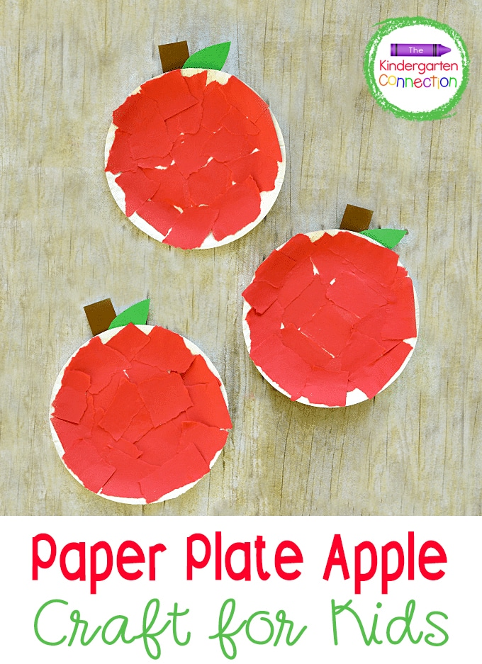 This Paper Plate Apple Craft is a fun, hands-on fall or Back to School activity that strengthens both listening and fine motor skills!