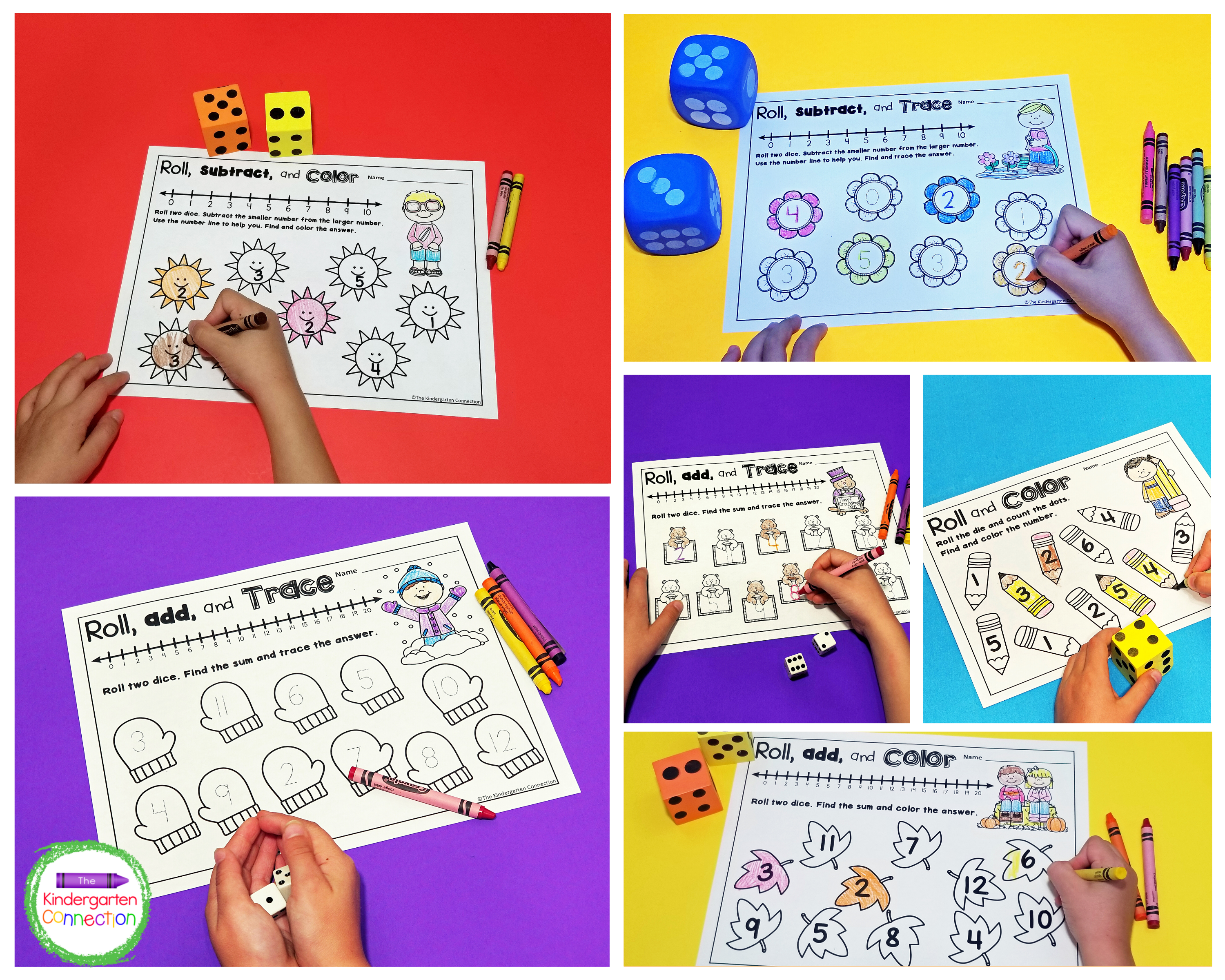 This super fun pack of dice math games includes 66 games and 22 fun themes,