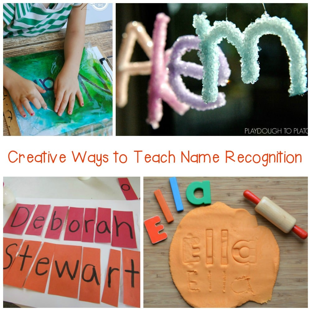 This list of name activities includes hands-on activities that include paint, cutting, and even play dough.