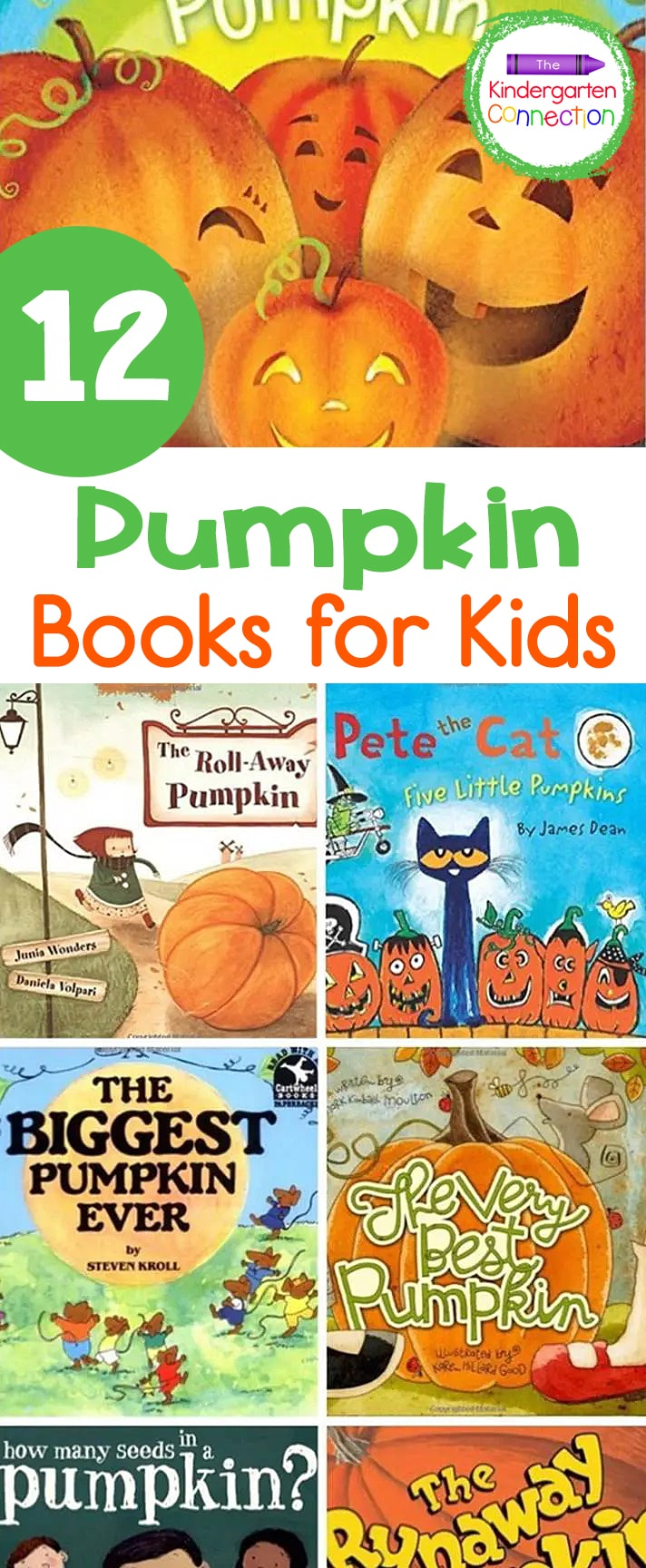 Get ready for fall and pumpkin themed fun with these 12 awesome pumpkin books for kids! Your kids are sure to love them!