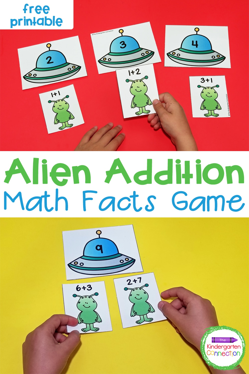 Work on addition facts to 10 with this fun and free Alien Addition Facts Sort. It is perfect for early learners to build up addition fluency!