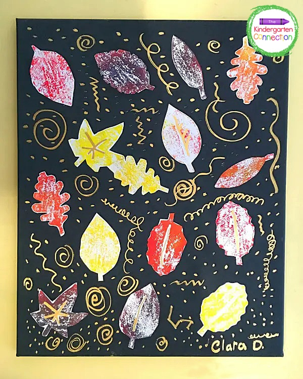 Each Autumn canvas art piece turns out so beautiful and unique.
