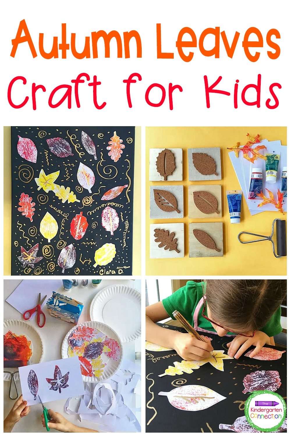 This Autumn Canvas Art is a wonderful project for kids to explore color mixing, stamping, cutting, and pasting to create a beautiful display!