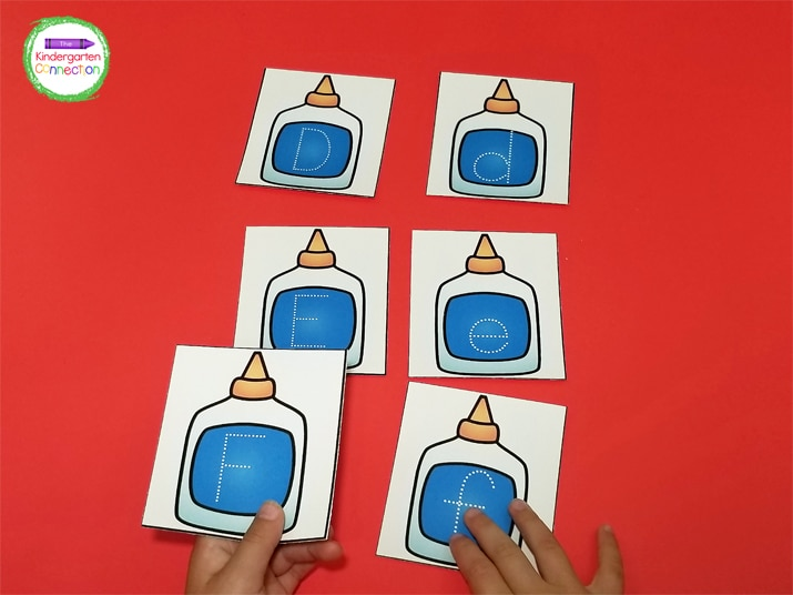 With these alphabet tracing cards, students can practice writing both their uppercase and lowercase letters.