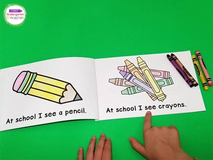 This emergent reader includes predicable sentence patterns with fun Back to School words and pictures.