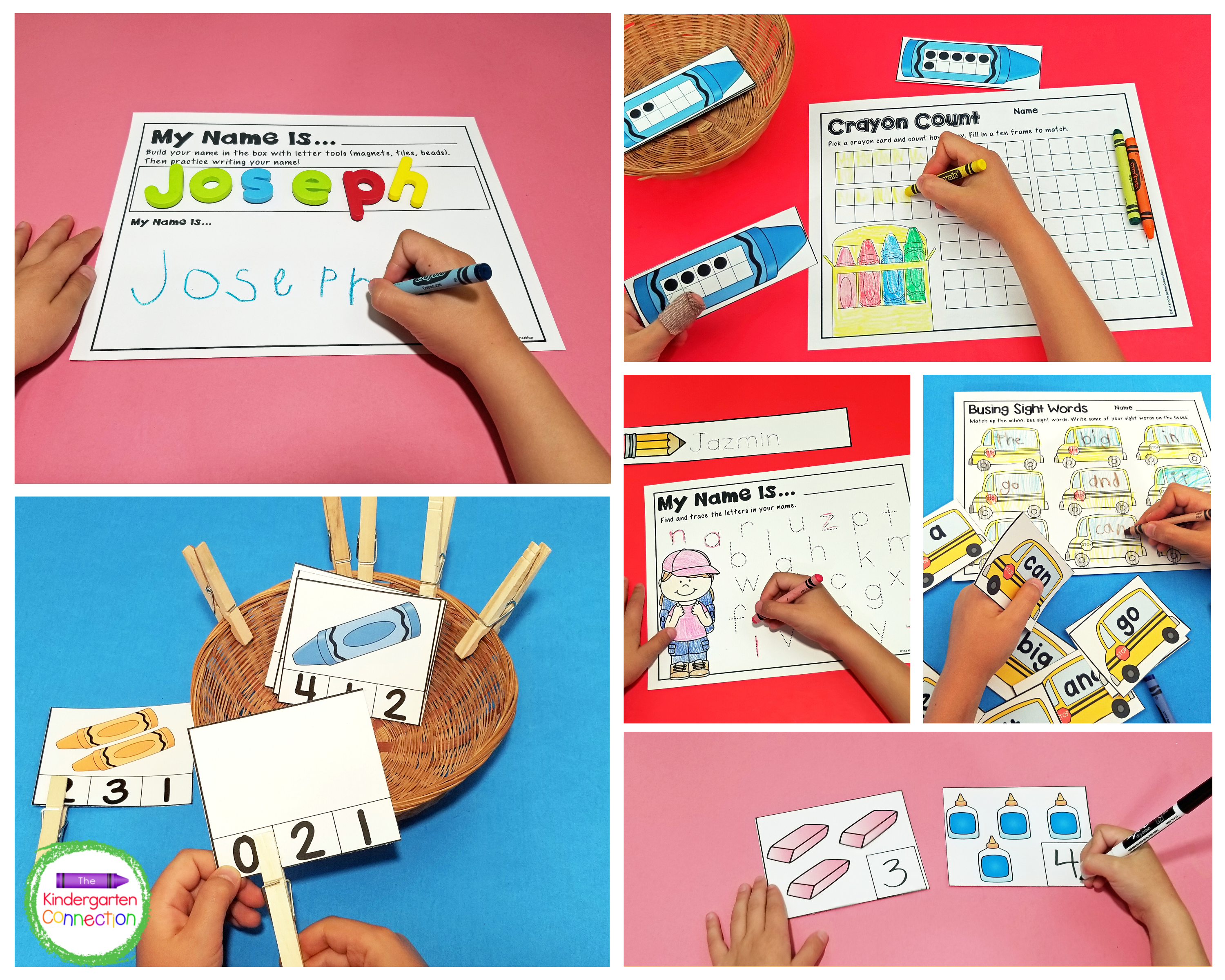 This Back to School themed pack includes 10 literacy centers and 9 math centers that will help you to save tons of prep time.