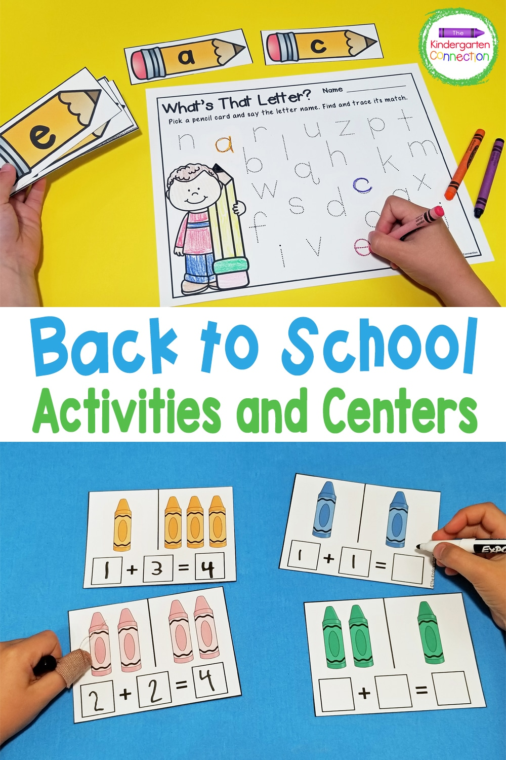 These Back to School Activities and Centers for Pre-K & Kindergarten are ready to print and play, saving you tons of stress and prep time!