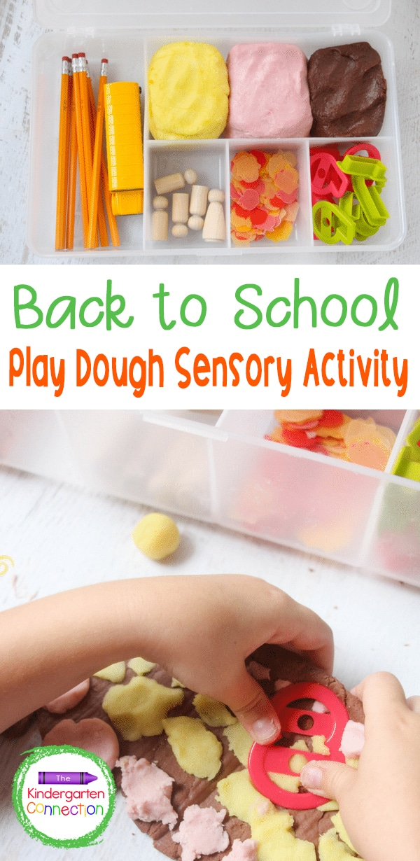 This Back to School Play Dough Kit is great for hands-on, sensory fun that encourages play for the Pre-K & Kindergarten Back to School season!