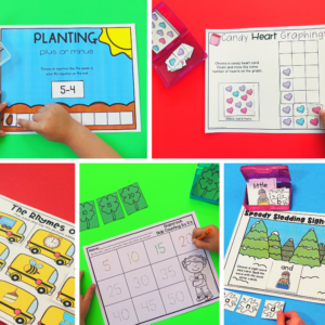 Low-Prep Independent Math and Literacy Box Centers