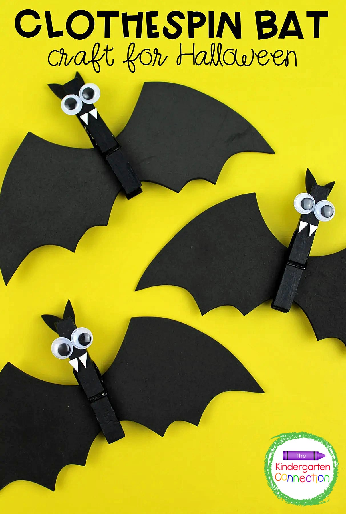 This cute clothespin bat craft is a great Halloween project for kids. Add a magnet to the back and kids can take it home to display proudly!