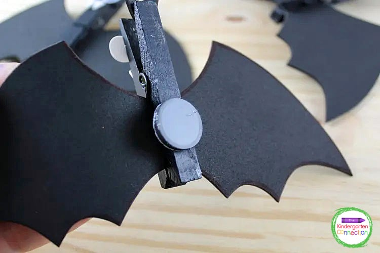 You can either leave the bats as is, or, you can turn them over and add a magnet for a fun option.