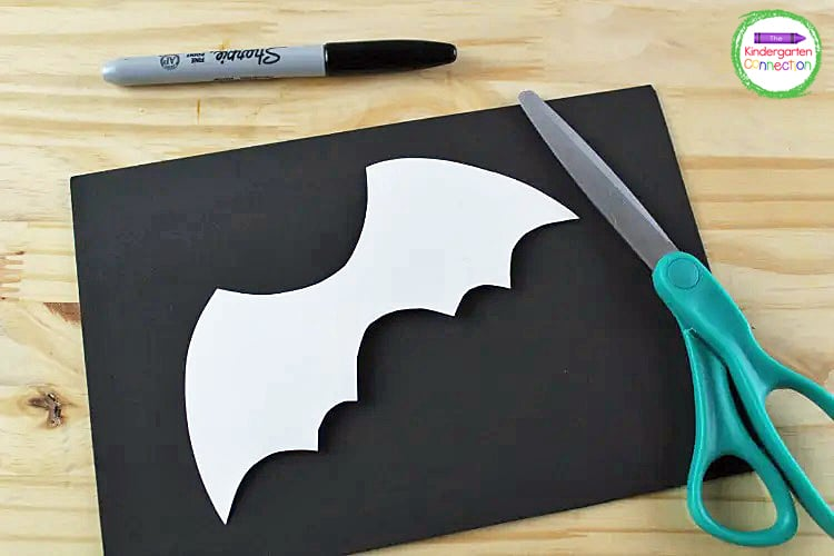 Print the bat wing template and cut it out.