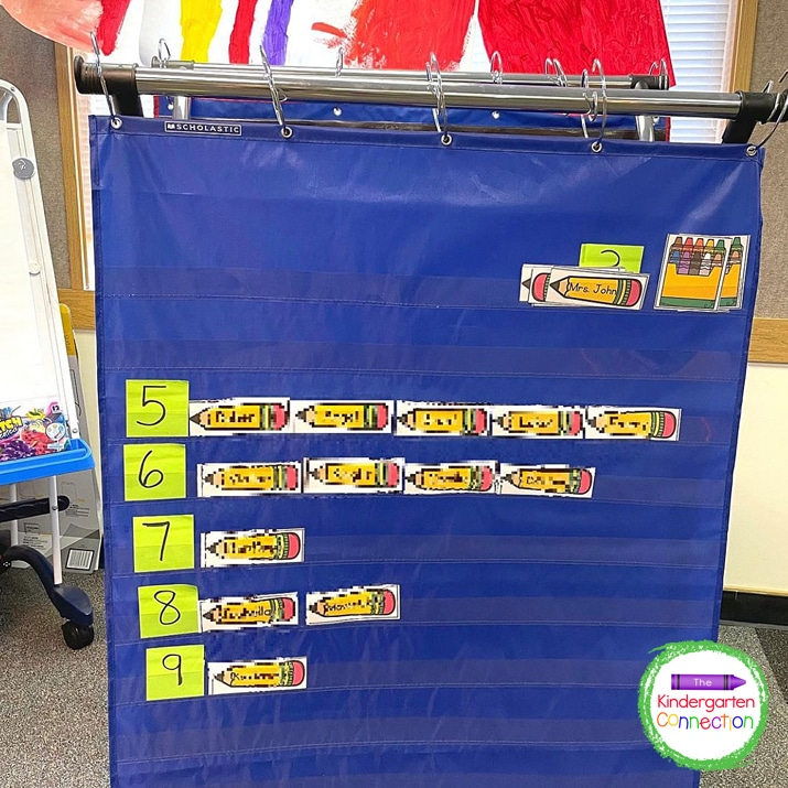 """For this classroom transition idea I sort the kids' names by number of letters and say, """"If you have 3 letters in your name, go line up!"""""""