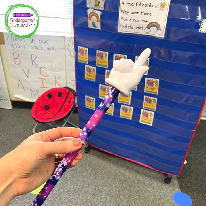 """For this transition idea I use my """"magic wand"""" (also known as my teacher pointer) to excuse students."""