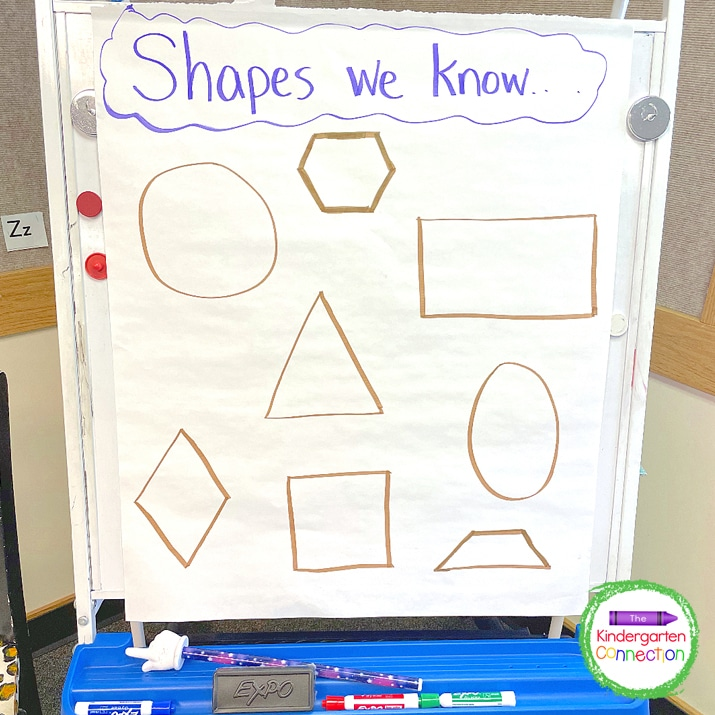 For this transition idea, I choose a student, point to a shape for them to identify, and then they can go.