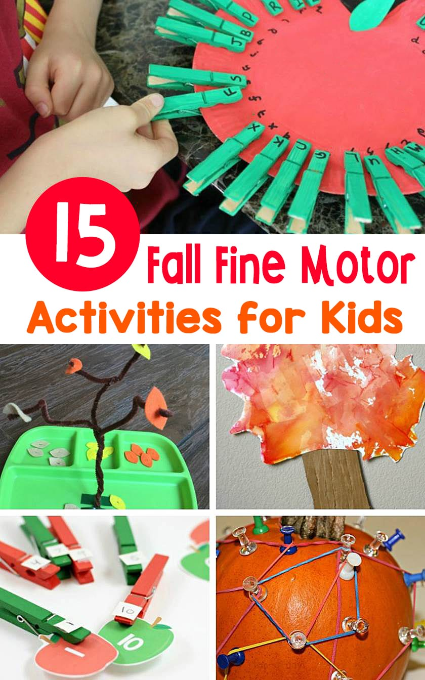 Boost children's pre-writing skills and let them learn hands-on at the same time with these festive and fun fall fine motor activities!