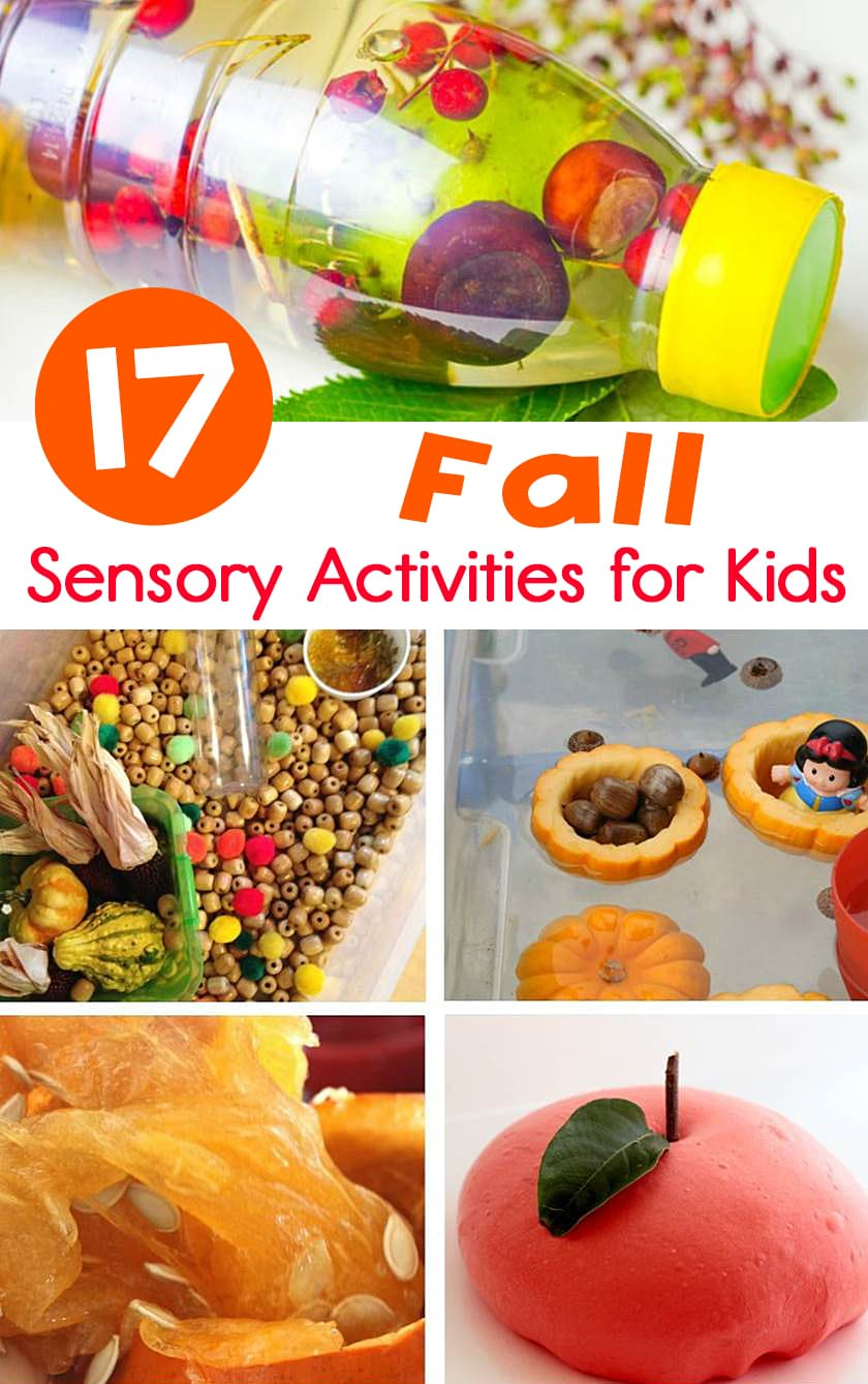 These fall sensory activities for for Pre-K and Kindergarten are great for incorporating some fall learning fun at home or in the classroom!