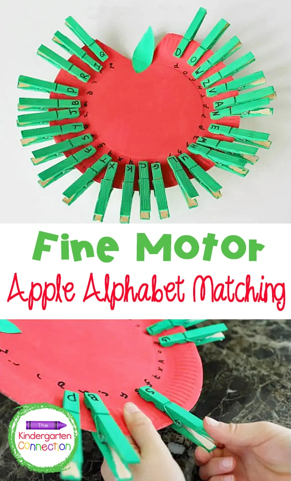 This  Apple Alphabet Match is a great fall activity for preschoolers and kindergarteners learning their uppercase and lowercase letters!